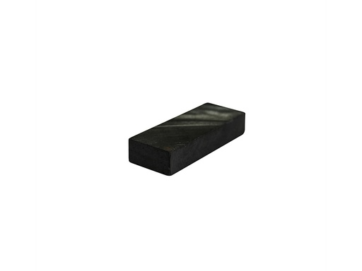Ceramic Ferrite Block Magnet 25.4mm x 10mm x 5mm - Mag Length