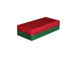[10460] Ceramic Ferrite Block Magnet 52mm x 25mm x 12.7mm - Plastic Coated -Red/Green