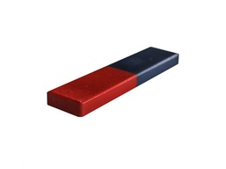 [10511] Ceramic Ferrite Block Magnet 75mm x 18mm x 6.5mm - Red/Blue - Mag Length