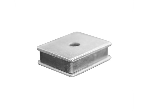 Magnetic Latch 25mm x 20mm x 7mm - 5kg - 2 loose plates - 4.6mm hole