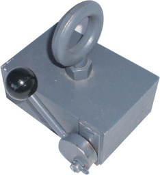 [10480] Lifting / Retrieving Magnet with eyebolt - 200kg - With release lever
