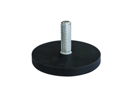 [10676] Rubber Encased Neodymium Disc Magnet Ø88mm x 8.5mm - M8 External thread