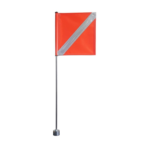 Safety Flag with Magnet Base